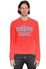 DSquared2 Cotton Fleece Sweatshirt - Lyst