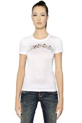 DSquared2 Cotton Jersey Logo T-shirt - Lyst