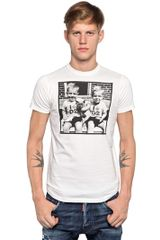 DSquared2 Cotton Jersey Photo T-shirt - Lyst