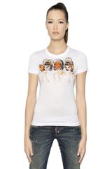 DSquared2 Printed Cotton Jersey T-shirt - Lyst