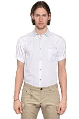 DSquared2 Short Sleeved Cotton Poplin Shirt - Lyst