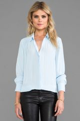 Elizabeth And James Archie Blouse in Baby Blue - Lyst