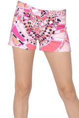 Emilio Pucci Printed Stretch Cotton Shorts - Lyst