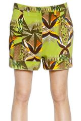 Etro Printed Cotton Drill Shorts - Lyst