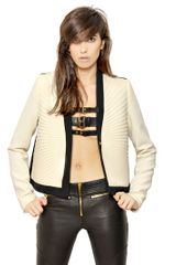Fausto Puglisi Block Color Pleated Viscose Cady Jacket - Lyst