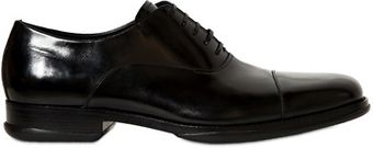 Ferragamo Russel Brushed Leather Oxford Lace Shoes - Lyst