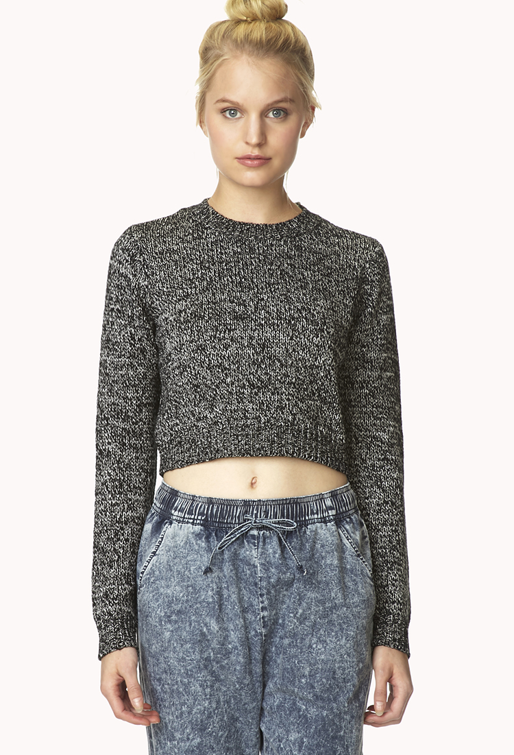 Lyst - Forever 21 Marled Moment Cropped Sweater You've ...
