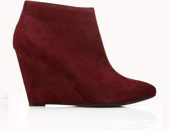 Forever 21 Sleek Faux Suede Booties - Lyst