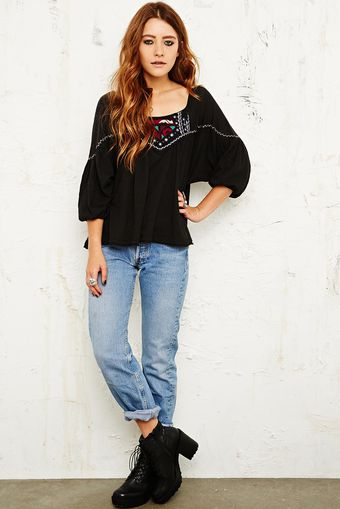 Free People Daze Santafe Embellished Top - Lyst