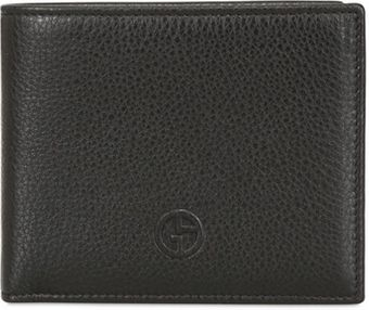 Giorgio Armani Embossed Logo Grained Leather Wallet - Lyst