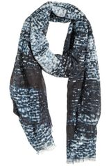 Giorgio Armani Cotton and Silk Blend Scarf - Lyst