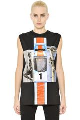 Givenchy Sleeveless Cotton Jersey Shirt - Lyst