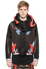 Givenchy Cotton Canvas Short Parka Coat - Lyst