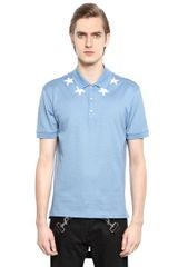 Givenchy Cotton Piqué Star Polo - Lyst