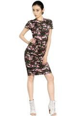 Givenchy Floral Short Sleeved Cotton Jersey Dress - Lyst