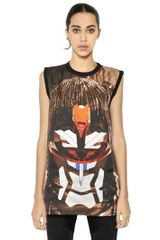 Givenchy Sleeveless Matte Silk Satin Shirt - Lyst