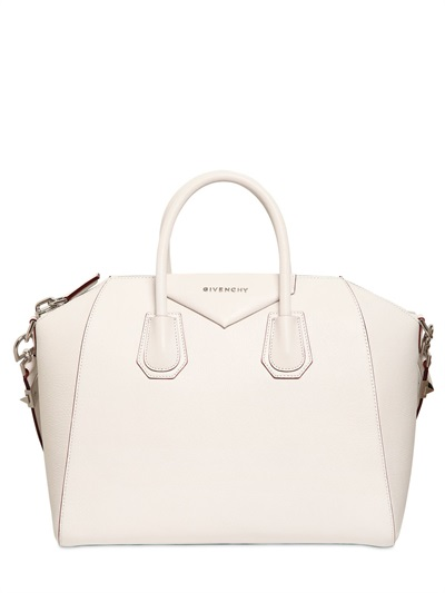 Lyst - Givenchy Medium Antigona Grained Leather Bag in White 7a95c062df289