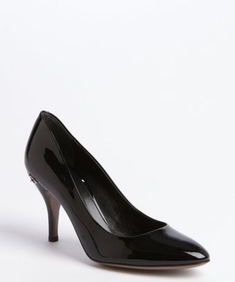 Gucci Black Patent Leather Horsebit Pumps - Lyst