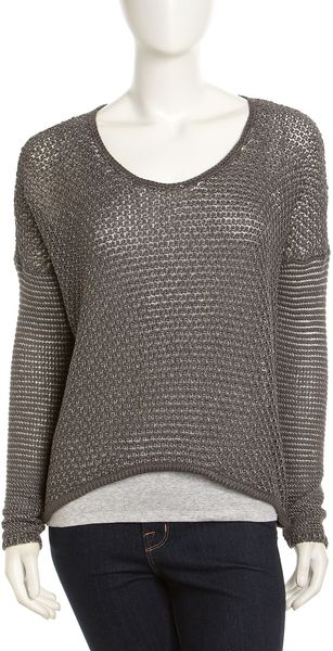Helmut Lang Brushed Knit Sweater - Lyst
