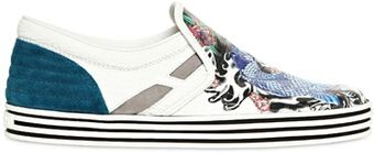 Hogan Rebel Patent Leather Tattoo Sneakers - Lyst