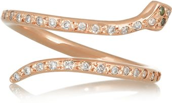 Ileana Makri Snake 18karat Rose Gold Diamond Ring - Lyst