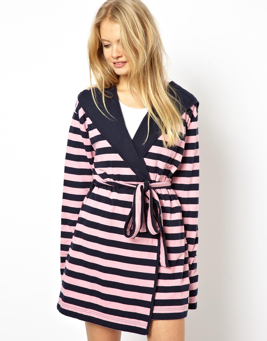 Lyst - Jack Wills Debling Double Faced Jersey Dressing Gown in Pink