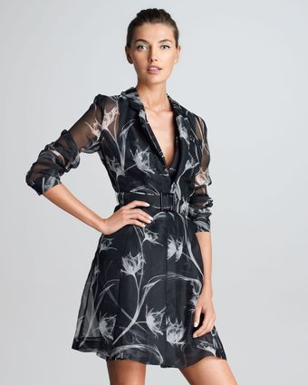 Jason Wu Printed Silk Trench - Lyst