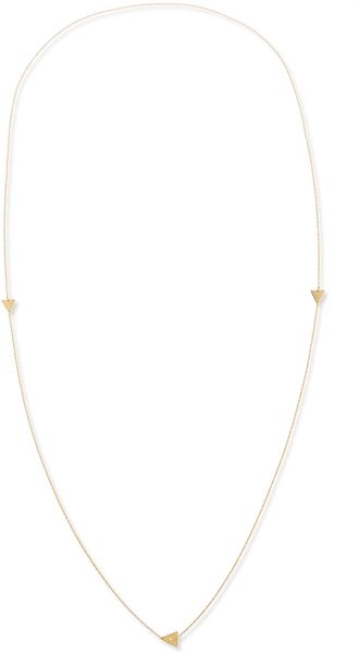 Jennifer Zeuner Tyler Triangle Long Necklace with Single Diamond - Lyst