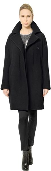 Jil Sander Melton Wool Cloth Cocoon Coat - Lyst