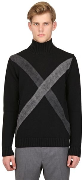 Jil Sander Needle Punch Wool Cashmere Sweater - Lyst