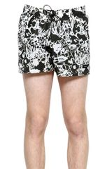 Jil Sander Nylon Exotic Swimming Trunks - Lyst