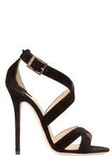 Jimmy Choo 120mm Xenia Suede Criss Cross Sandals - Lyst