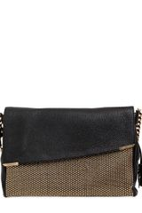 Jimmy Choo Ally Studded Deerskin Shoulder Bag - Lyst