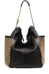 Jimmy Choo Anna Studded Deerskin Shoulder Bag - Lyst