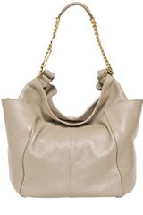 Jimmy Choo Anna Glossy Deerskin Shoulder Bag - Lyst