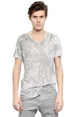 Julius Cotton Silk Jersey V-neck T-shirt - Lyst