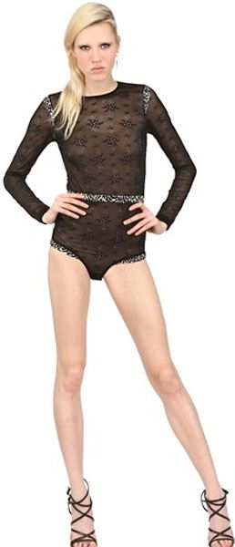 Just Cavalli Viscose Lace Bodysuit - Lyst