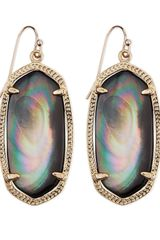 Kendra Scott Goldplated Elle Earrings Black - Lyst