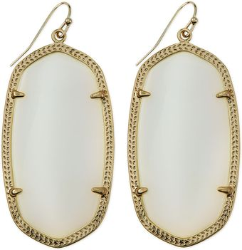 Kendra Scott Goldplated Danielle Earrings White - Lyst