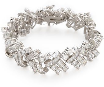 Kenneth Jay Lane Basket Weave Deco Bracelet - Lyst