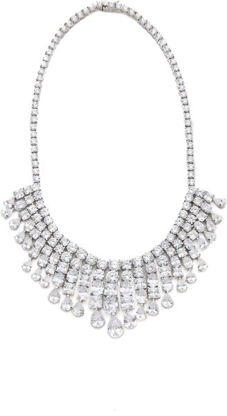 Kenneth Jay Lane Multi Cz Fringe Statement Necklace - Lyst