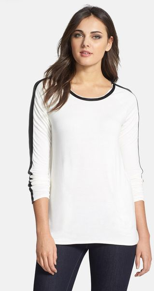 Kensie Drapey French Terry Sweatshirt - Lyst