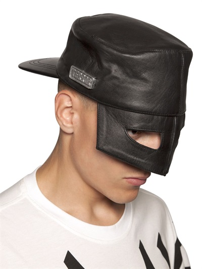 Ktz Leather Mask Hat In Black For Men Lyst