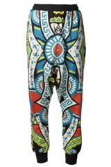 Ktz Drawstring Drop Crotch Trouser - Lyst