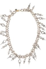 Ktz Chain Necklace with Spike Pendants - Lyst