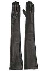 Maison Martin Margiela Over The Elbow Nappa Leather Gloves - Lyst