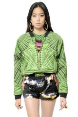 Manish Arora Printed Woven Cotton Rayon Jacket - Lyst