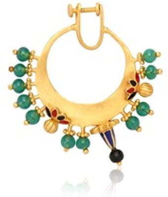 Manish Arora Draco Gold Plated Nose Ring - Lyst