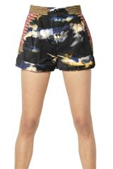 Manish Arora Printed Cotton Velvet Shorts - Lyst