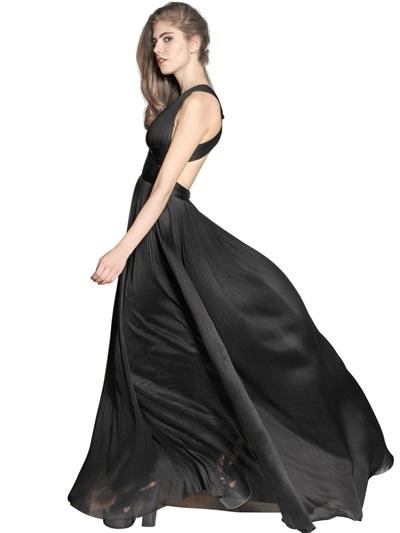 Black Silk Dress